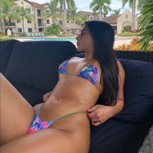 UV glow bikini sets